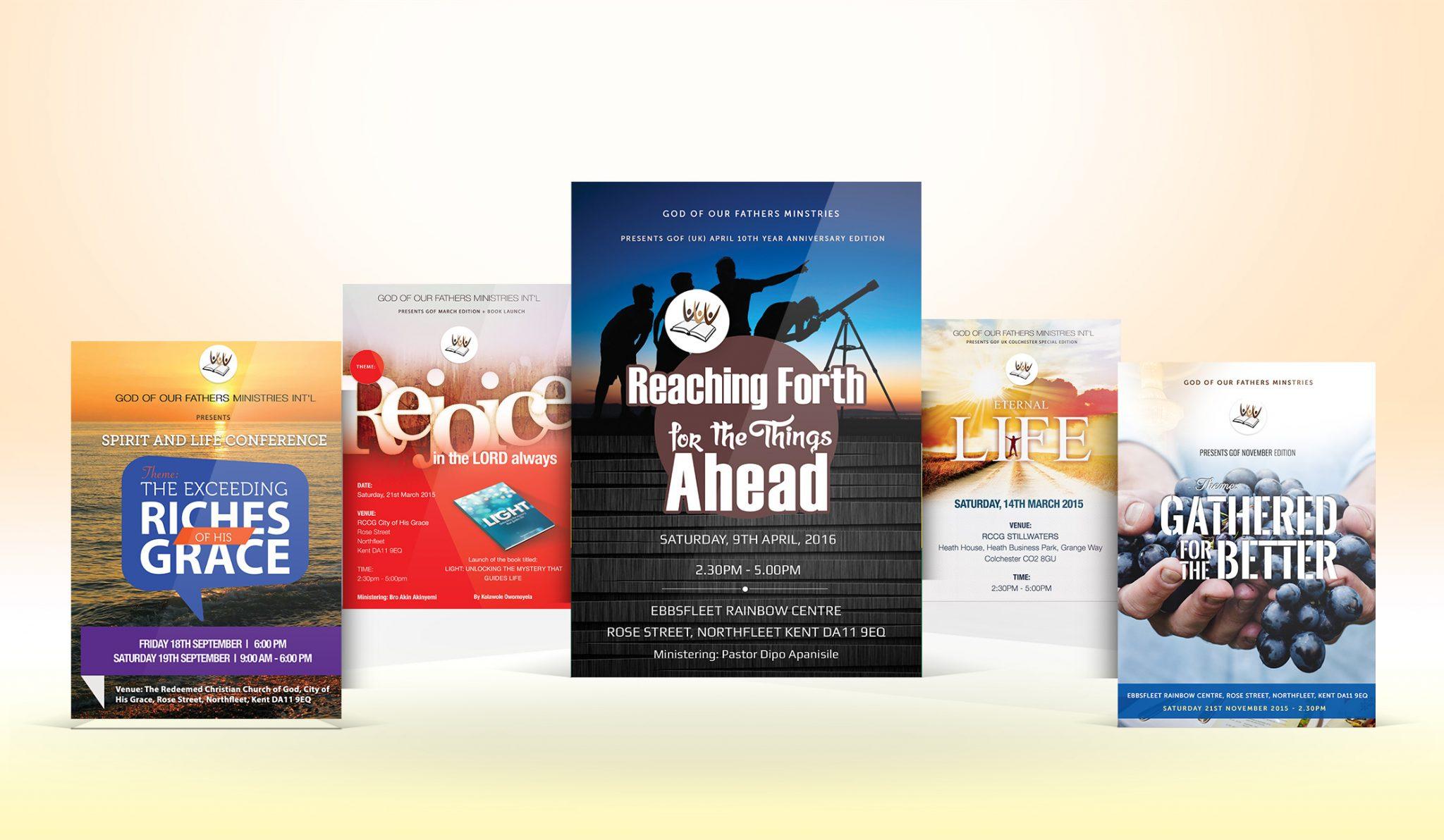 church flyer design rhics technology